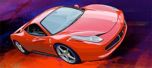 """""""458 Italia"""" Ferrari 458 Automotive Art"""