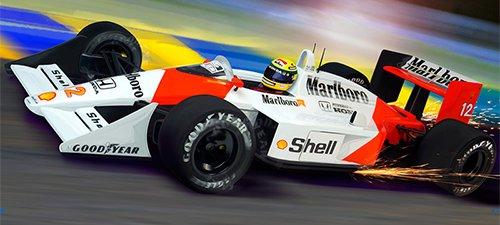"""""""Sempre Senna"""" Senna Automotive Art"""